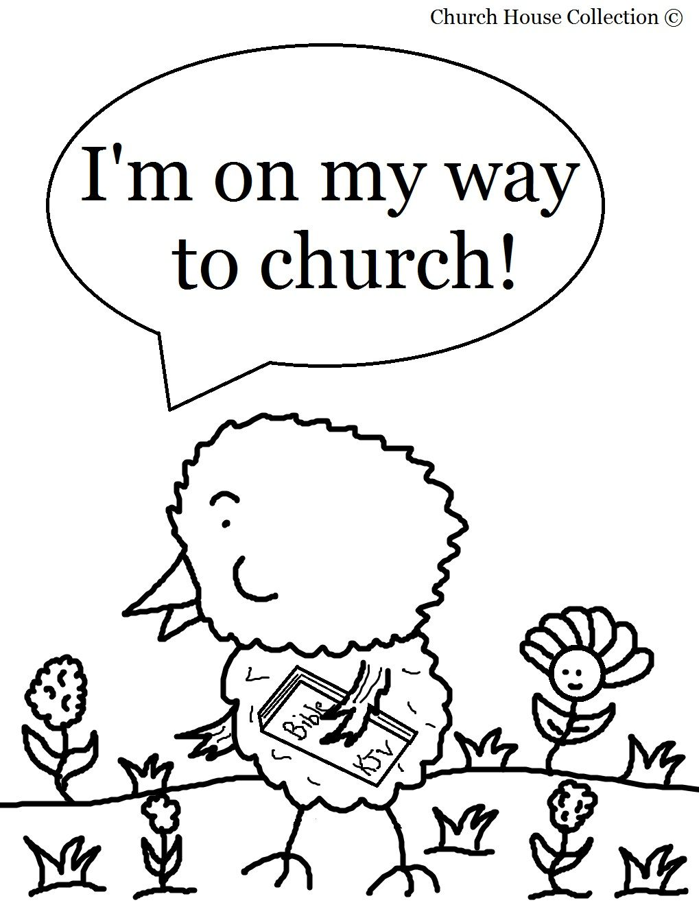 Easter Chick Coloring Page For Sunday School Kids- \