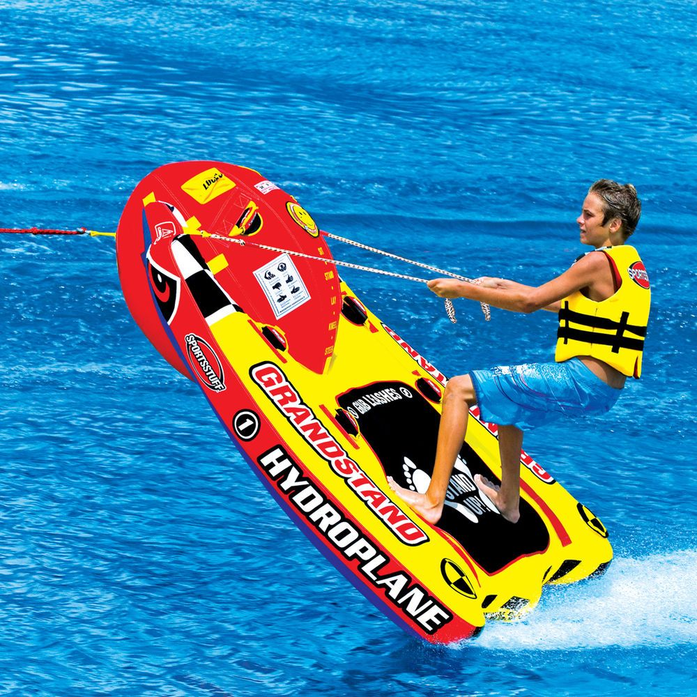 Ski Wake Board Tube 1 Person Towable Water Sports Stand Up Speed Raft Stable Boat Tubes Wakeboarding Water Skiing