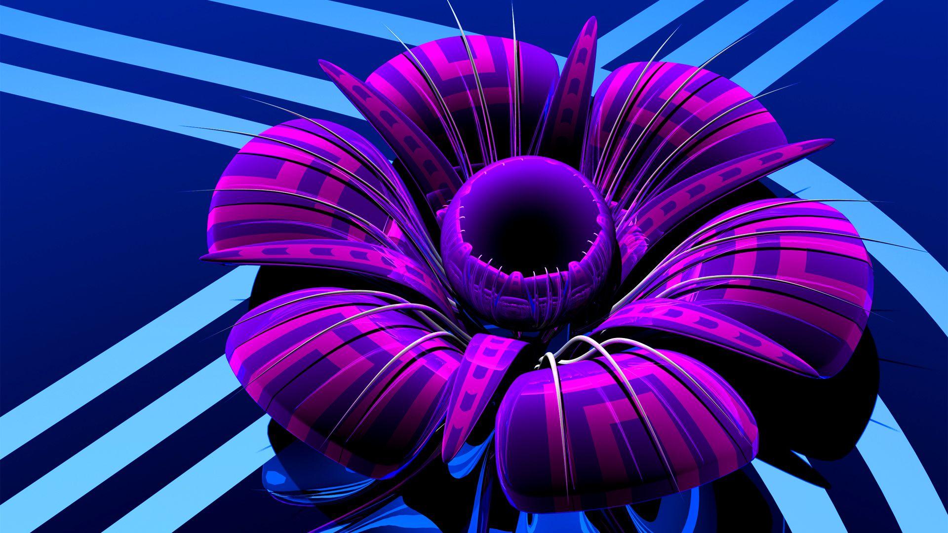 3d Glass Flower Widescreen Hd Wallpapers Download