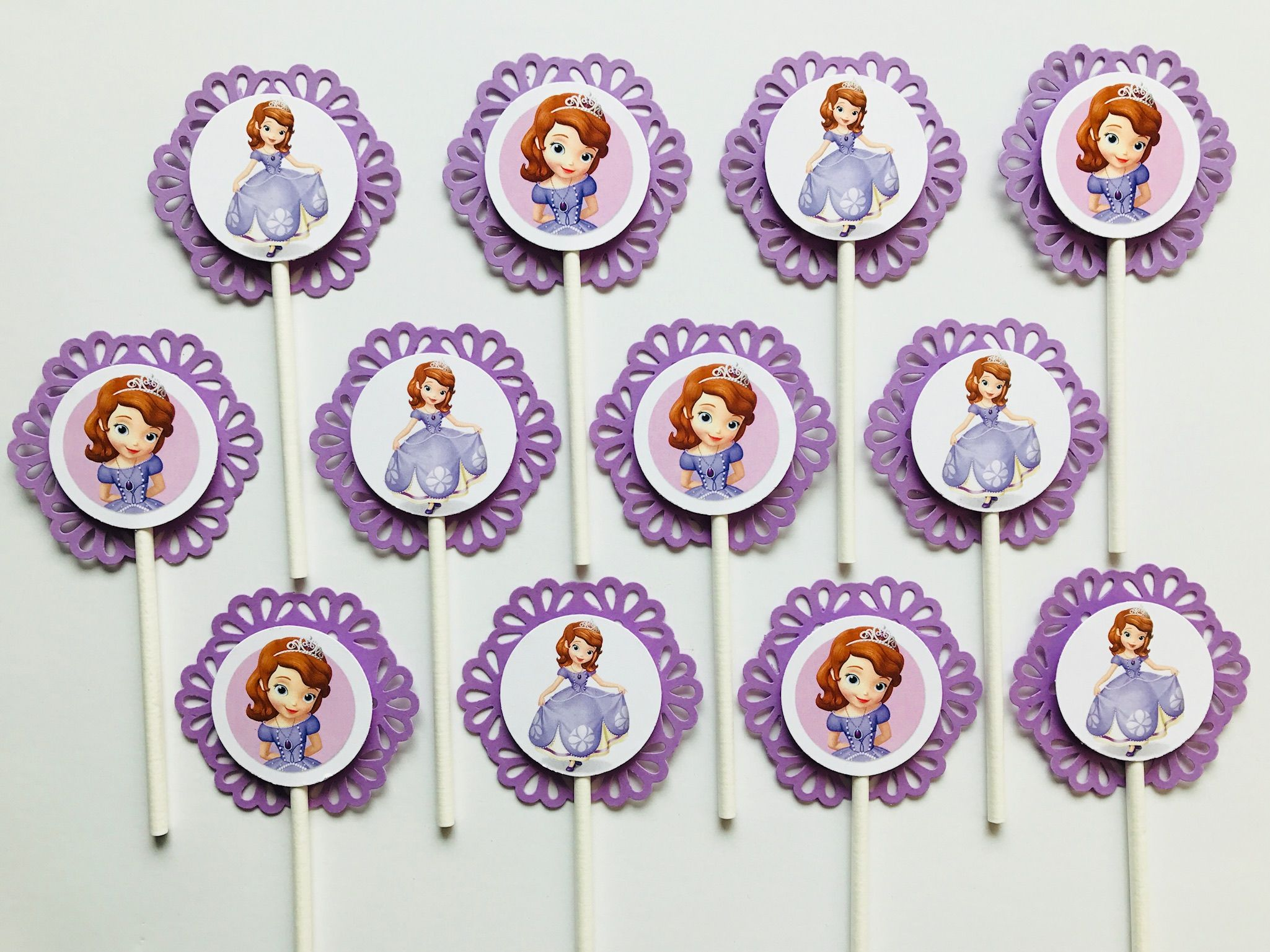 12 Sofia The First Cupcake Topper Party Picks Disney Princess