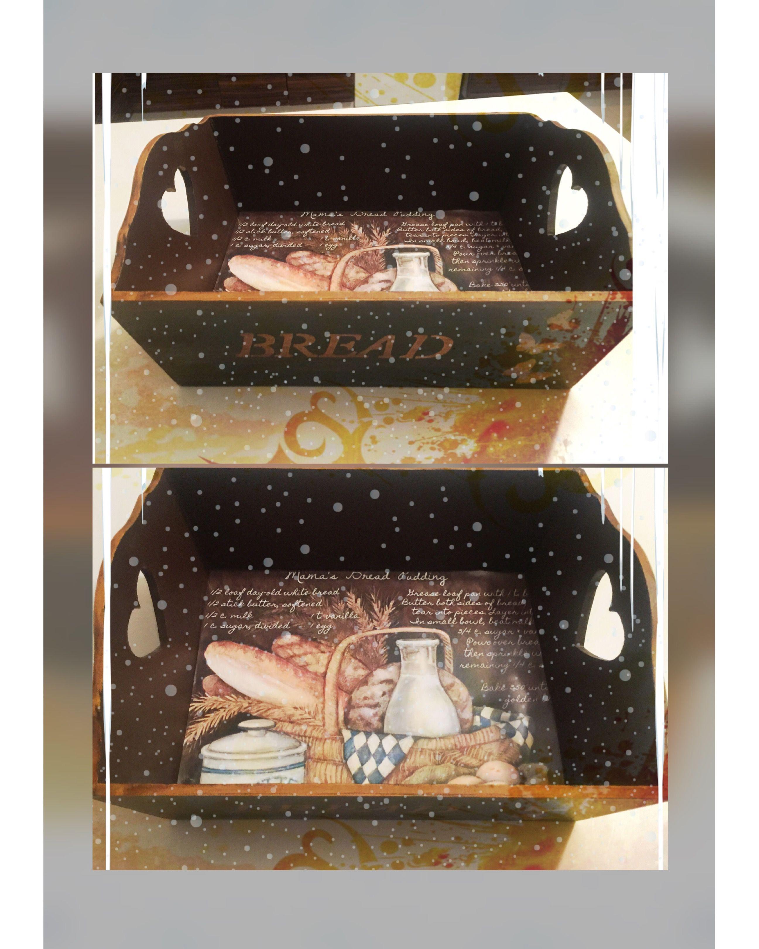 Ahsap Boyama Ekmek Sepeti Kutular Resim Sanati Sepetler