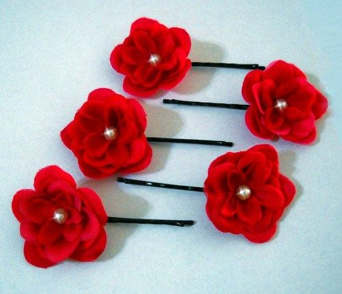grips Black vintage rose flowers hair slides Gift. Bridesmaid accessory pins