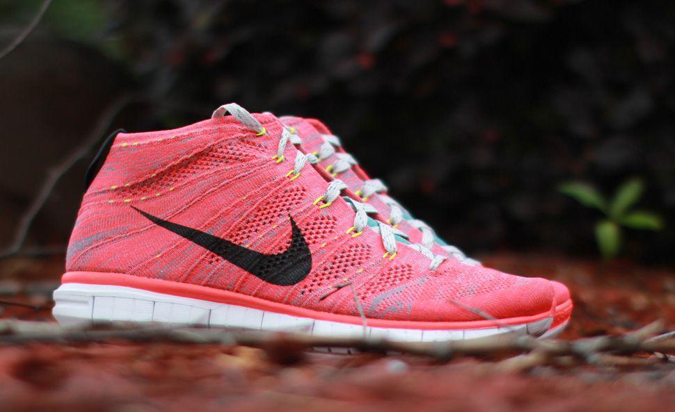 "Nike Free Flyknit Chukka ""Bright Crimson"""