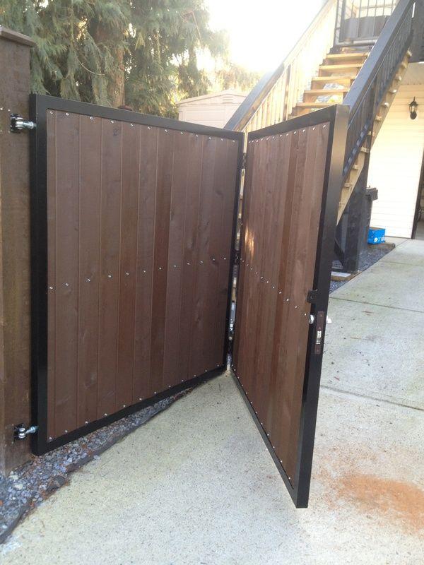 Wood Driveway Swing Gate