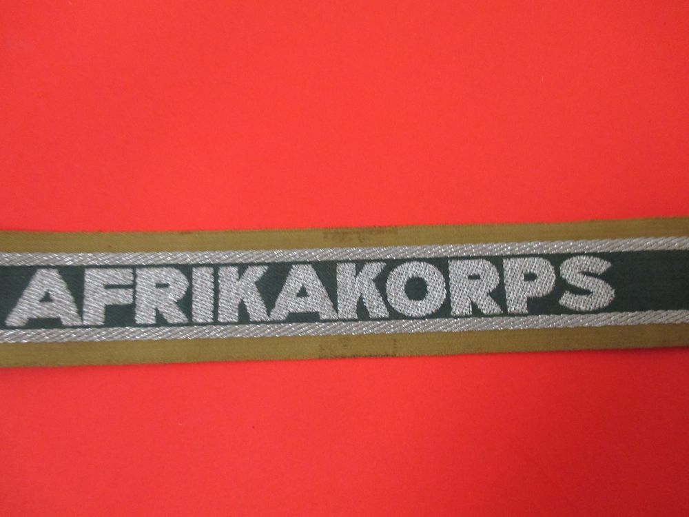 Vintage WWII German Afrikakorps Cuff Title #worldwar2 #German #war #military #uniform