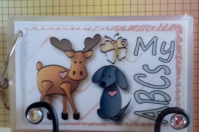 Abc flash cards educational toy animal flashcards