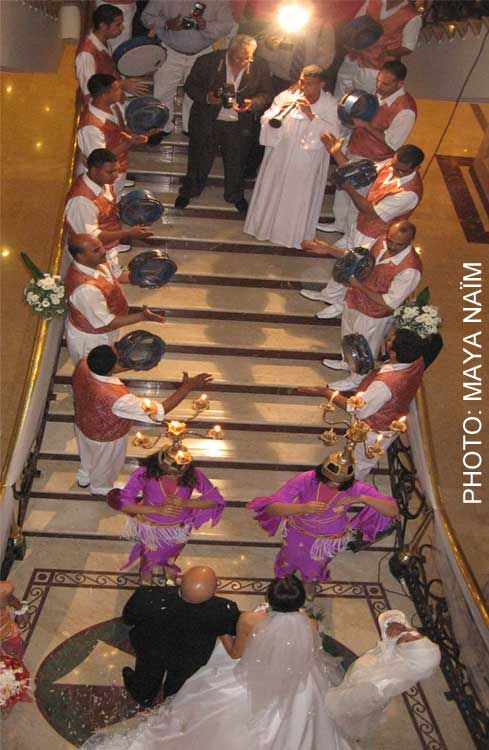 Arabic Wedding Tradition of Zaffa-- group of drummers and dancers who perform as the bride and groom enter the reception. Follow #Professionalimage