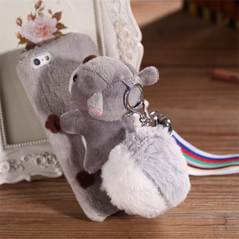 sports shoes 006eb c9ee3 Soznoc Squirrel Design Plush Doll Phone Case For iPhone 6 6 Plus 6s ...