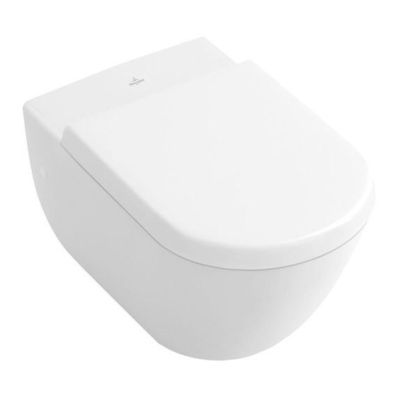 Villeroy & Boch Subway wall-mounted, washdown toilet L: 56 W: 37 cm white with ceramicplus