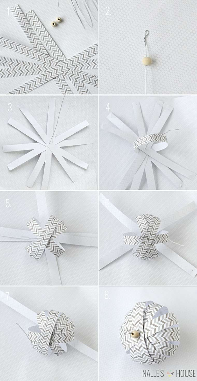 Tuto DIY. Boule de Noël en papier. | Diy christmas tree ornaments
