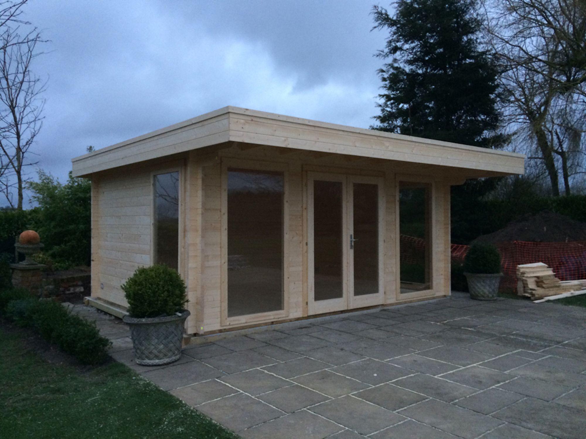 Garden Office Log Cabin - Yorick 5x3.8m | Modern log ...