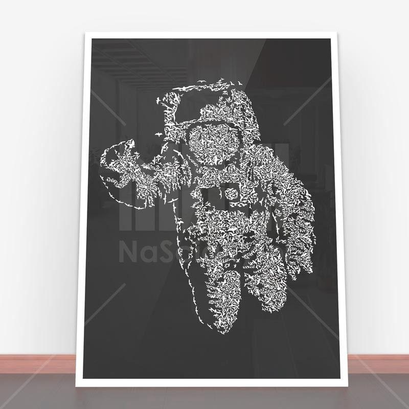 Plakat Flying Astronaut Na ścianę W Pięknej Ramie Plakaty