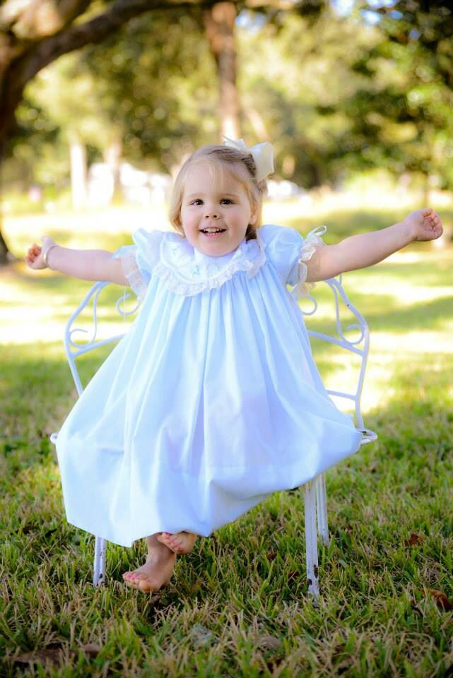 Pretty Janie is happy wearing her Mela Wilson Heirloom  dress.