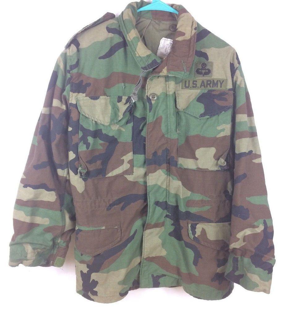 8a14f6811823a USGI M-65 Field Jacket X-Small Reg Woodland Camo BDU Cold Weather Army Coat  VTG