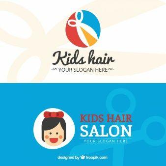 Kids hair salon flat business card hair makeup pinterest kids hair salon flat business card colourmoves Gallery
