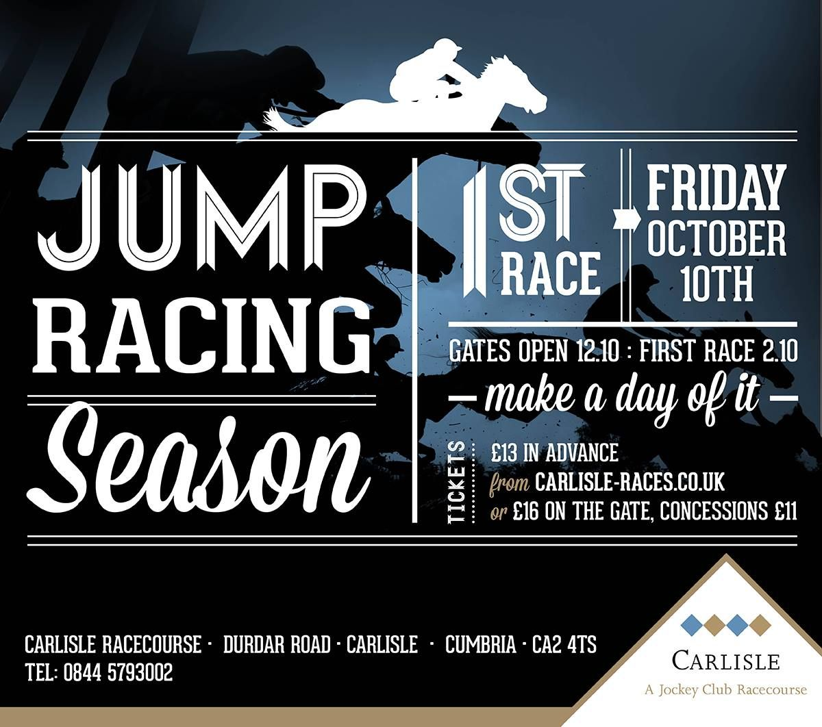 Join us #carlisleraces #jumpracing #10thOctober