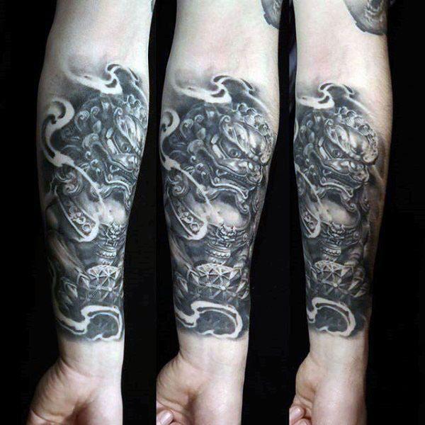 194faadd995ec 100 Foo Dog Tattoo Designs For Men - Chinese Gaurdian Lions | Tats ...