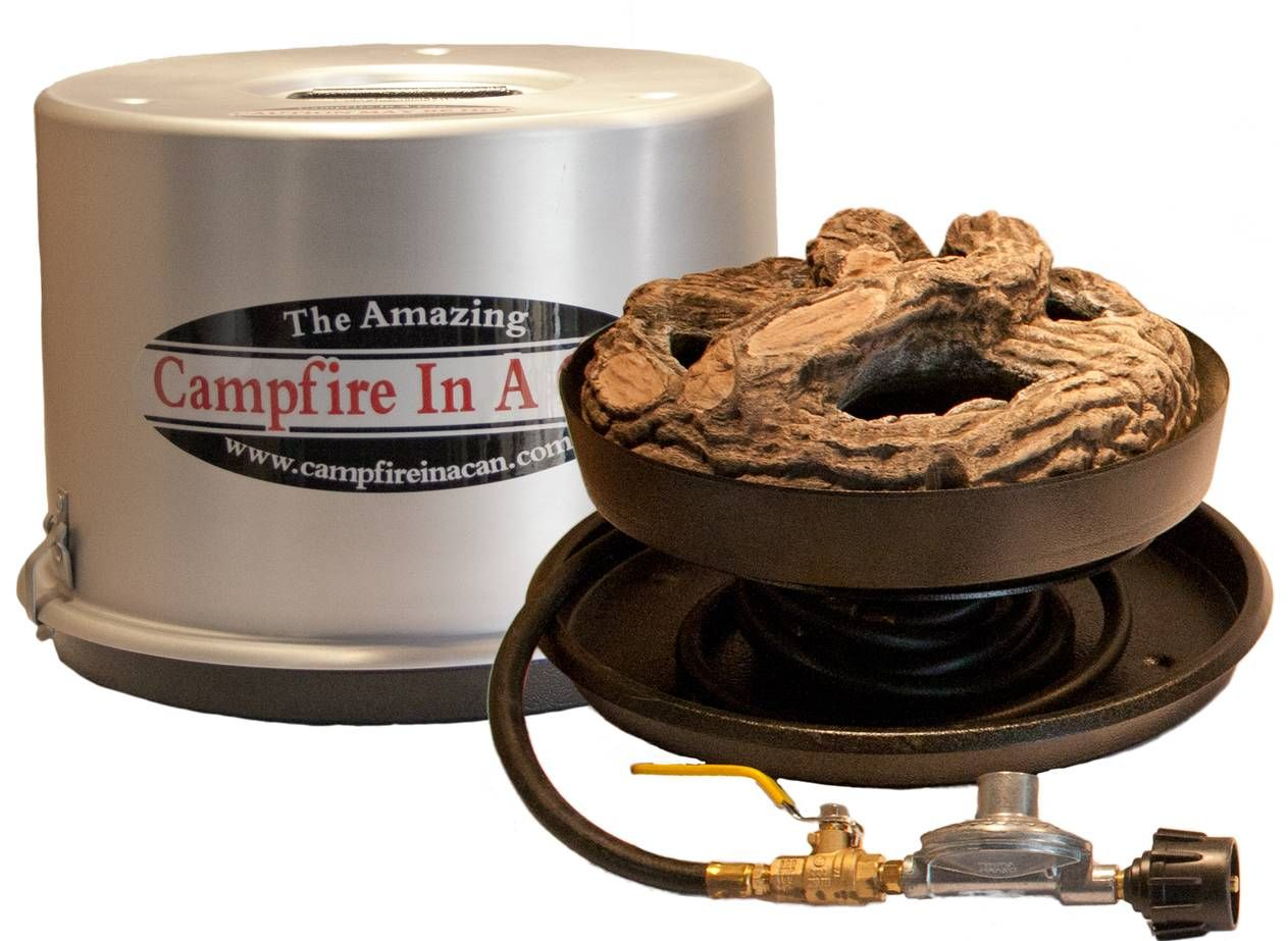 Campfire in a can portable propane campfires are the perfect addition to your backyard patio