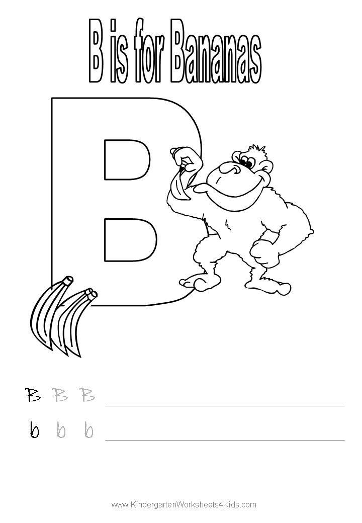 Handwriting Worksheet Letter B Pre K Work Printables Pinterest
