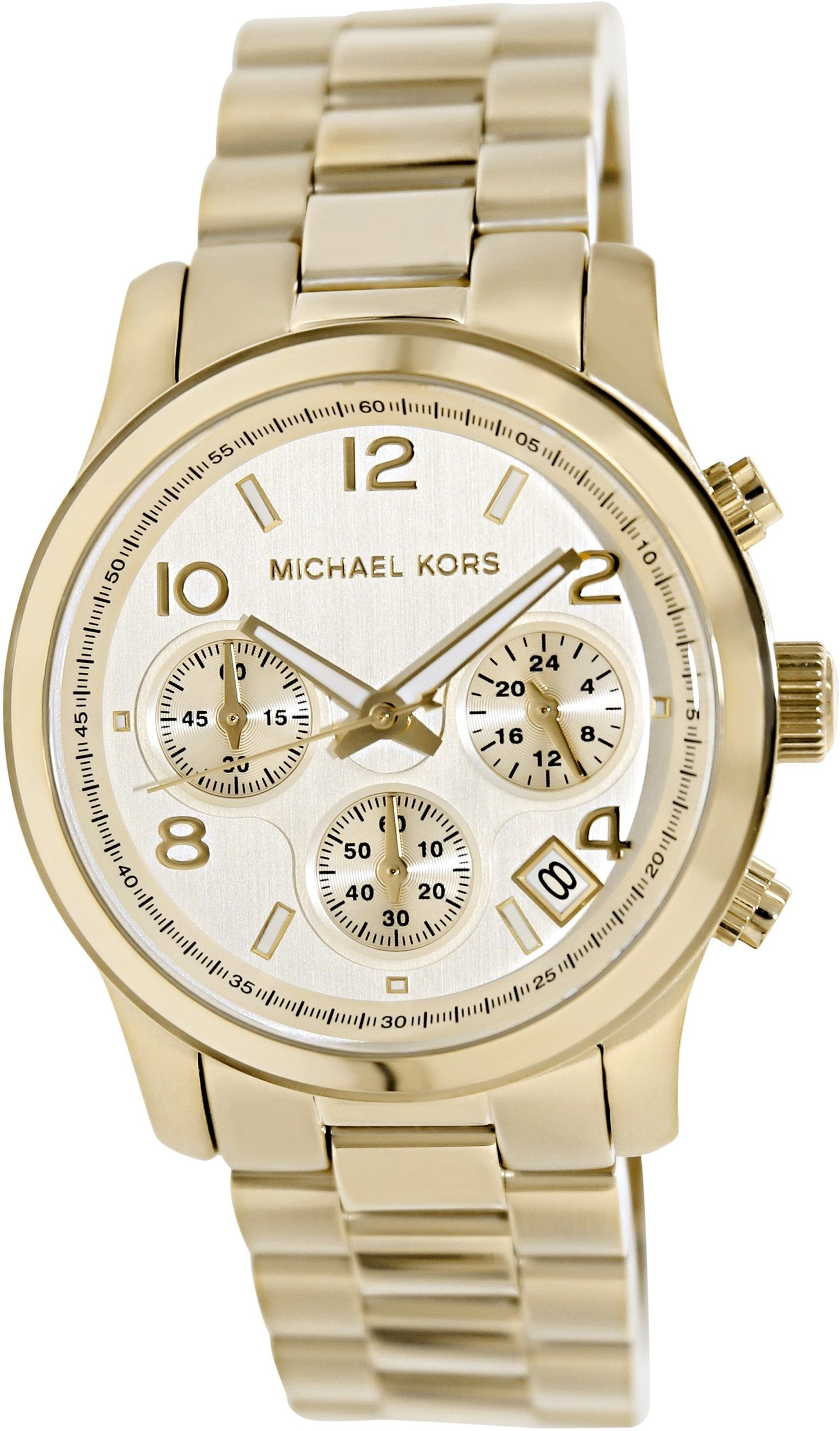 d5a3ee8f8896 Michael Kors Midsized Chronograph Gold Tone Womens Watch MK5055