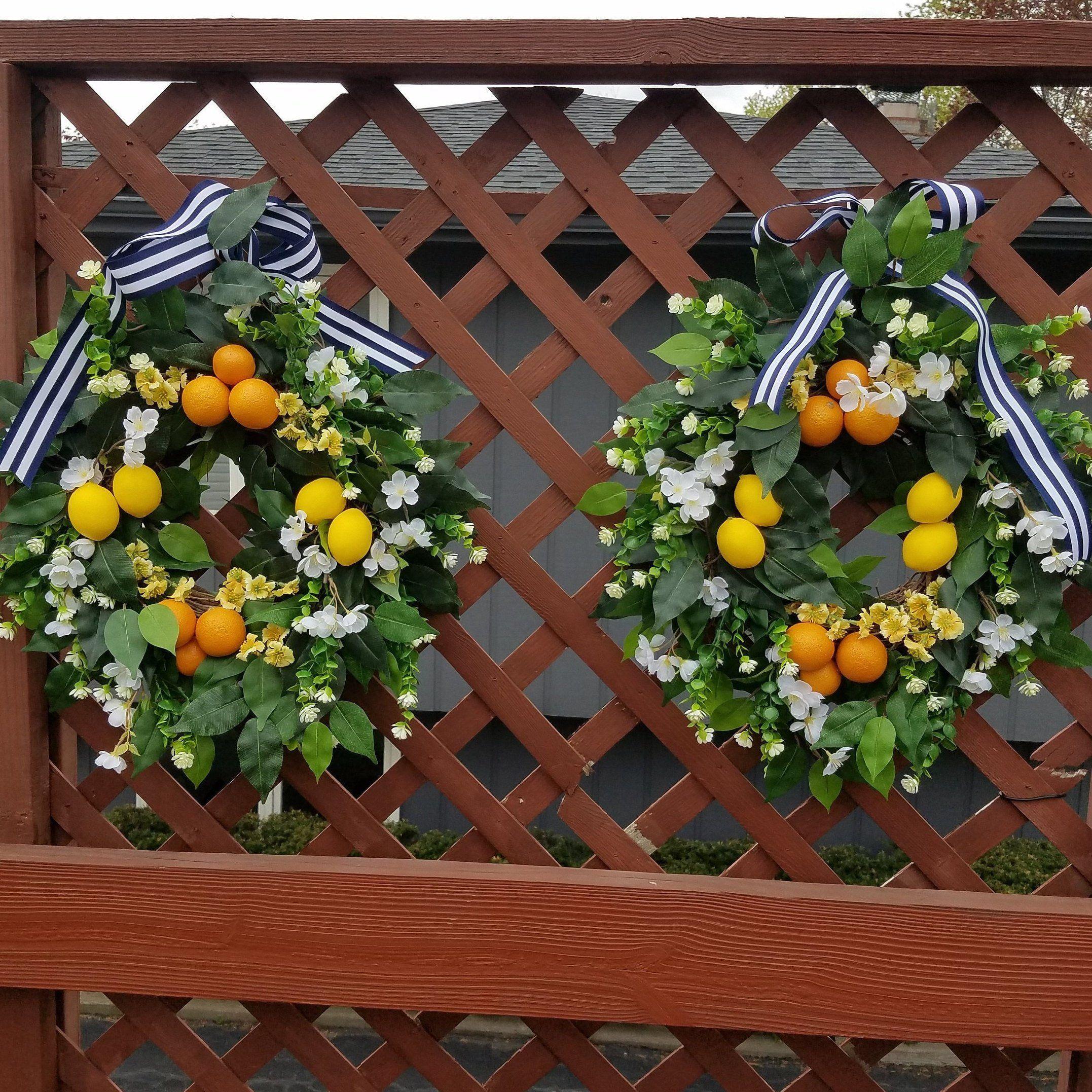 Lemon Wreaths for Double Doors, Summer Door Wreath, Lemons and Oranges Wreath,Family Door Wreath #doubledoorwreaths We sell all types of indoor & outdoor wreaths: Grapevine Wreaths, Metal Hoop Wreath , Lemon Wreaths for Double Doors , Family Door Wreath, Summer Door Wreaths, Double Door Wreaths, Farmhouse Wreath, Summer Door Decor, Lemons  and Oranges Wreaths, Floral Wreaths, Artificial Wreaths, Double Wreath,Front Door Wreath, This listing is for Lemon Wreaths For Double Doors ! Dress up your f #doubledoorwreaths