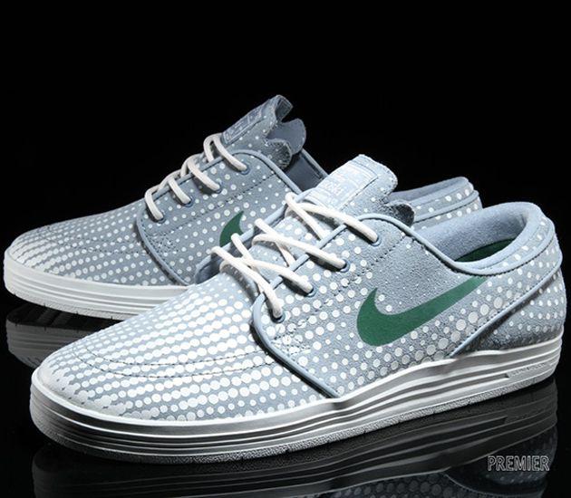 Nike SB Lunar Janoski Low – Dove Grey / Summit White – George Green