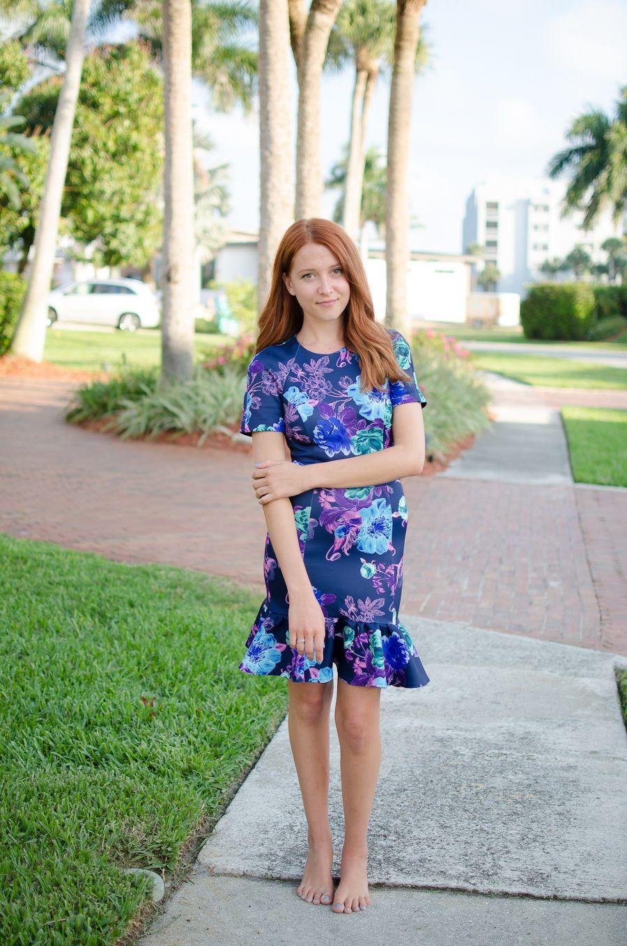 Floral Scuba Dress   Barefoot girls   Pinterest   Scuba dress ...