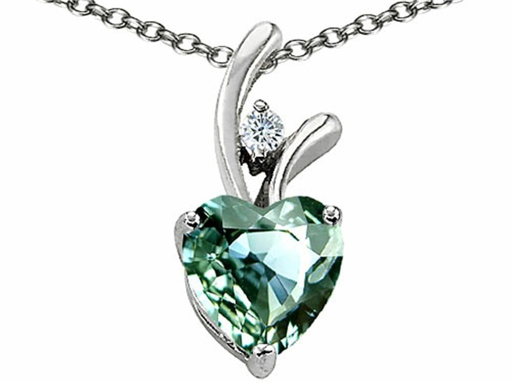 Star k heart shaped 8mm simulated green sapphire pendant necklace star k heart shaped 8mm simulated green sapphire pendant necklace aloadofball Image collections