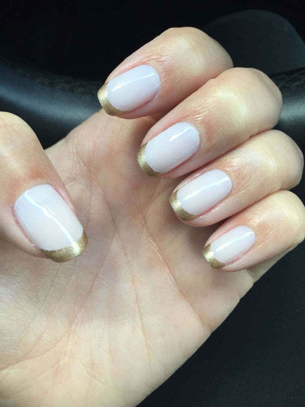 OPI - funny bunny with gold French | Nails | Pinterest | Opi funny ...