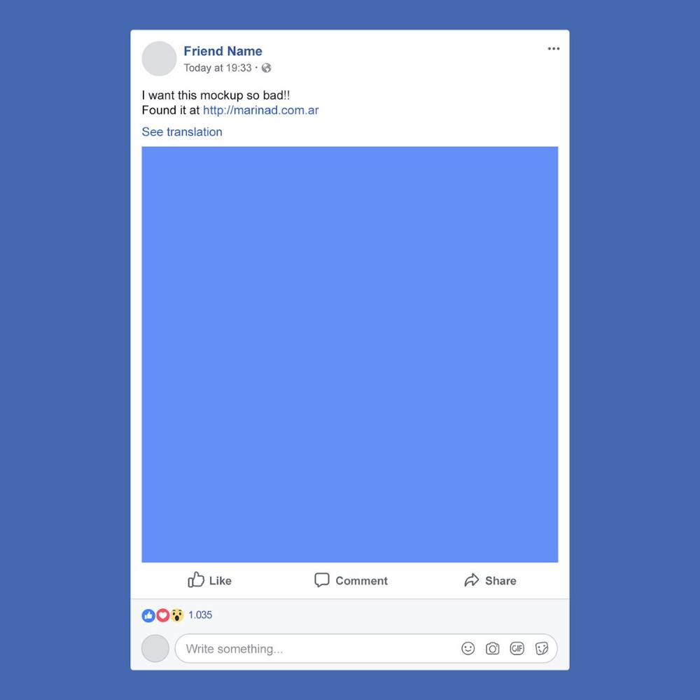 Free Facebook Psd Post Mockup 2018 On Behance Facebook Ad Template Facebook Post Mockup Facebook Mockup