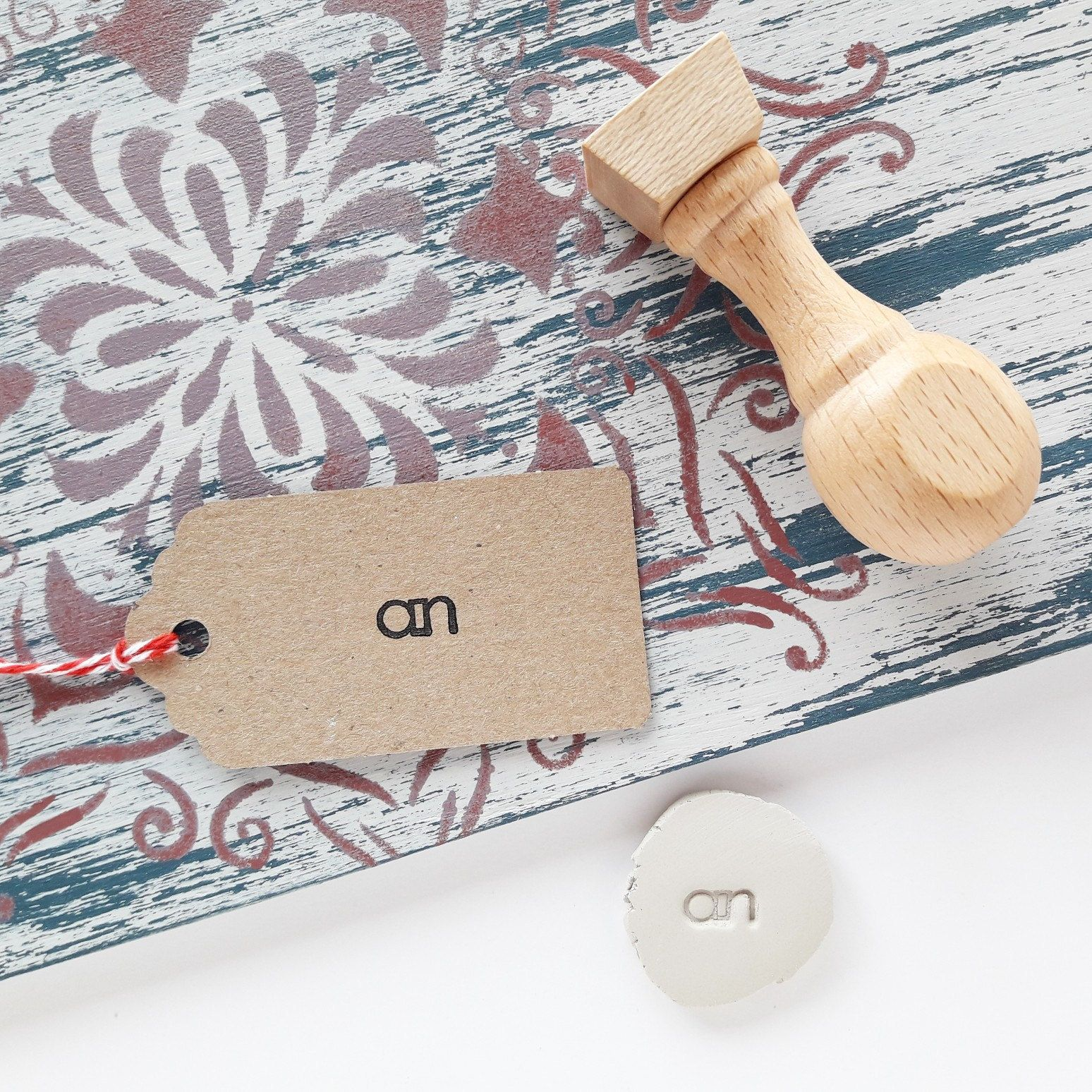 Stamping on clay, soap, paper and fabric? To do this you don't need 4 different stamps!  With a single hard and deep resin stamp and 1 ink you can stamp or mark many surfaces !!   #potterytools #ceramictools #potterystamp
