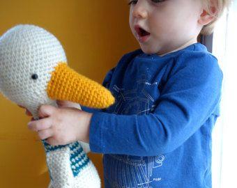 Items similar to Amigurumi Bird Plush Toy in Sea Green on Etsy