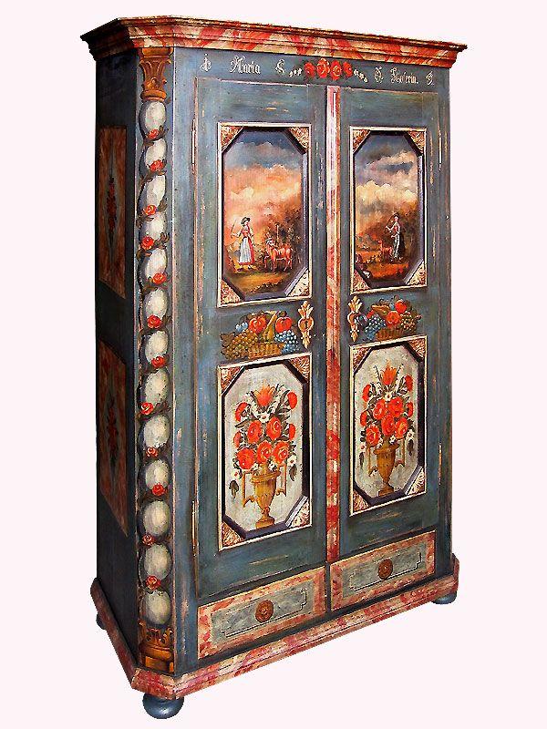bemalter Bauernschrank | Hand painted furniture | Pinterest | Rustic ...