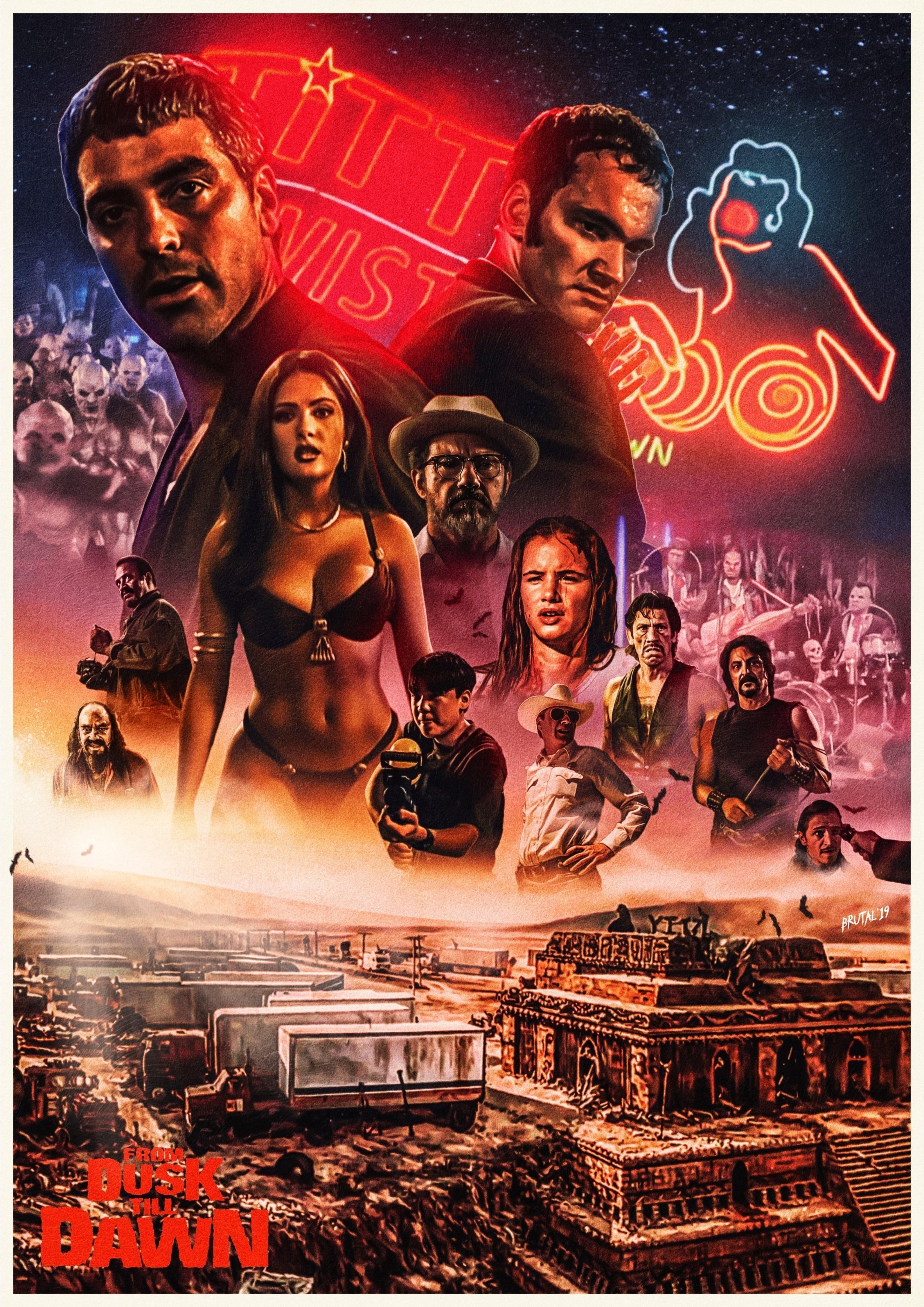 From Dusk Till Dawn 1996 3182 4500 By Chris Barnes Film Posters Art Dawn Movie Dusk Till Dawn