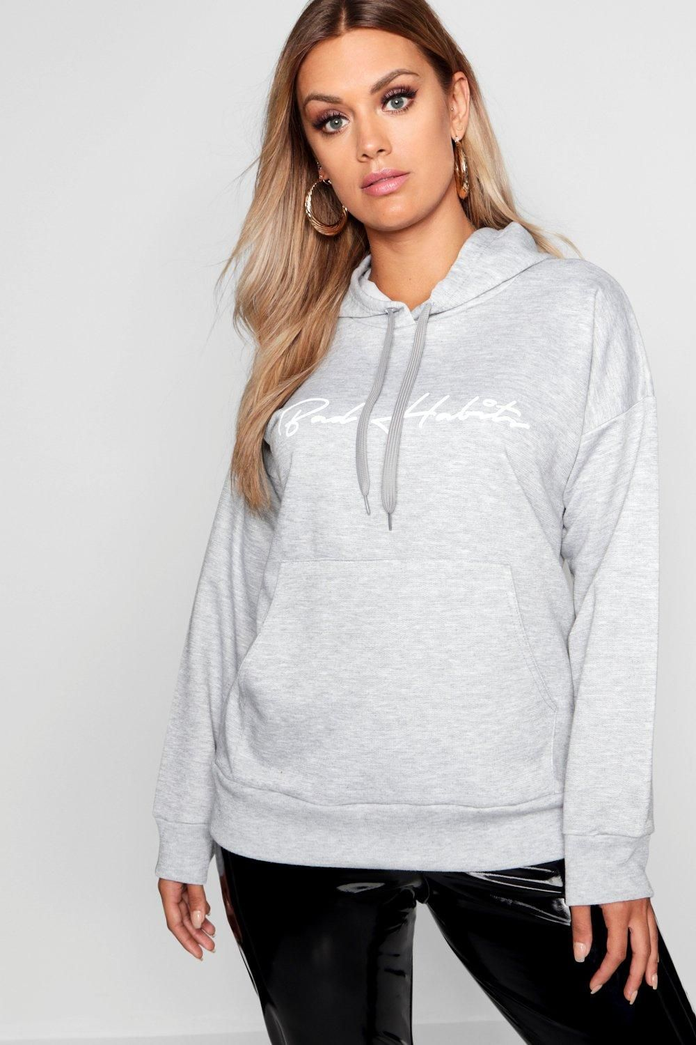 dab1c90b2ac Click here to find out about the Plus  Bad Habits  Oversized Boyfriend  Hoodie from Boohoo