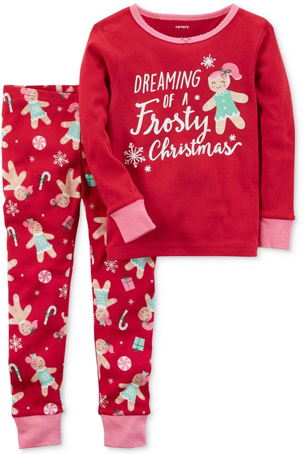 94f74ae66 Carter s 2-Pc. Frosty Christmas Cotton Pajama Set