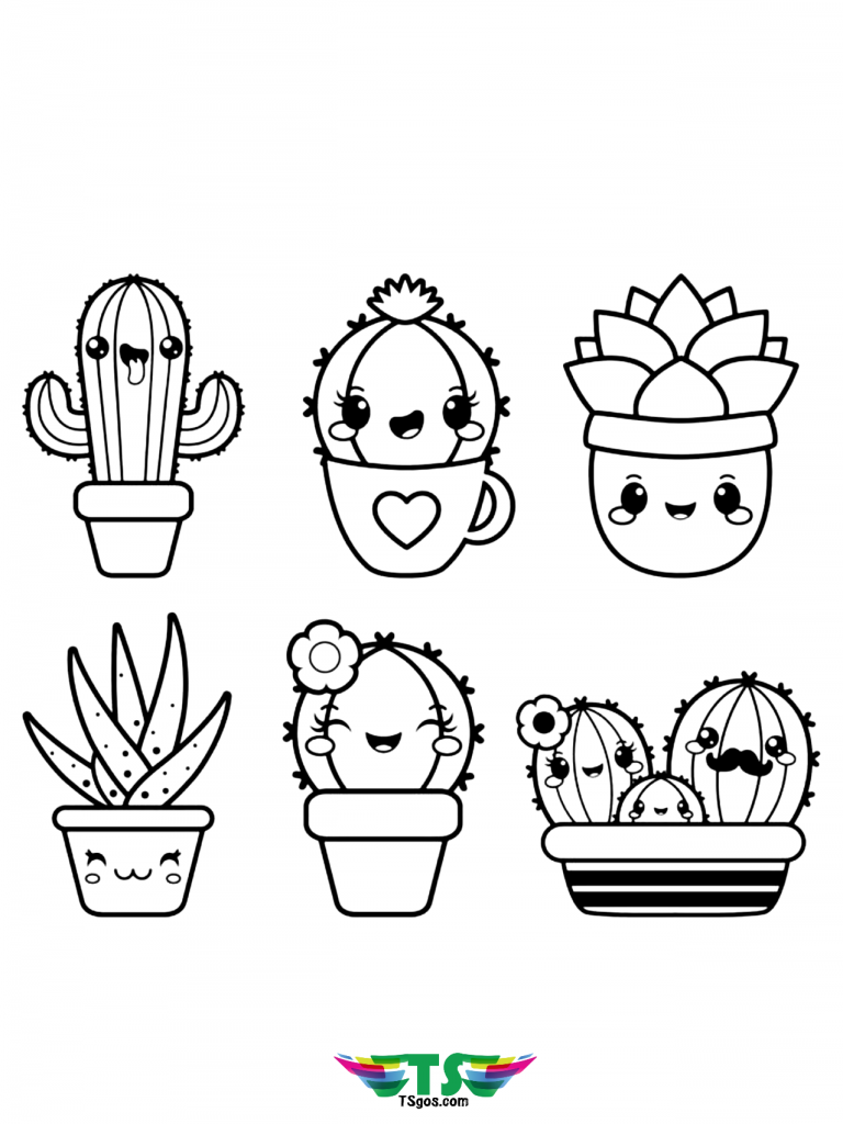 11++ Cute cactus clipart black and white info