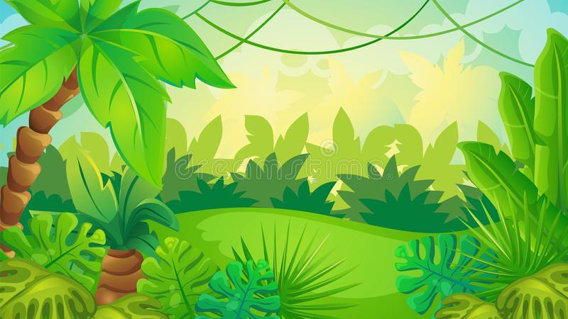 Cartoon Jungle Game Background Vector Cartoon Game Background Of Green Jungle L Ad Background Vector Jungle Scene Game Background Cartoon Background