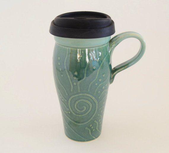 In Stock Ceramic Travel Mug With