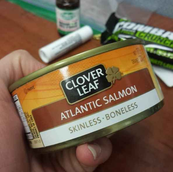 Remember: Canned salmon and tuna are your friends.