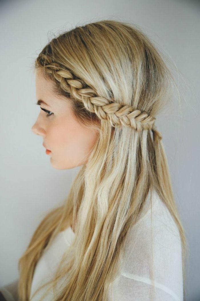 Connu La coiffure avec tresse - mille et une variantes pour être belle  XH71