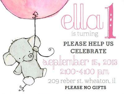 elephant 1st birthday invitations – Elephant Birthday Invitations