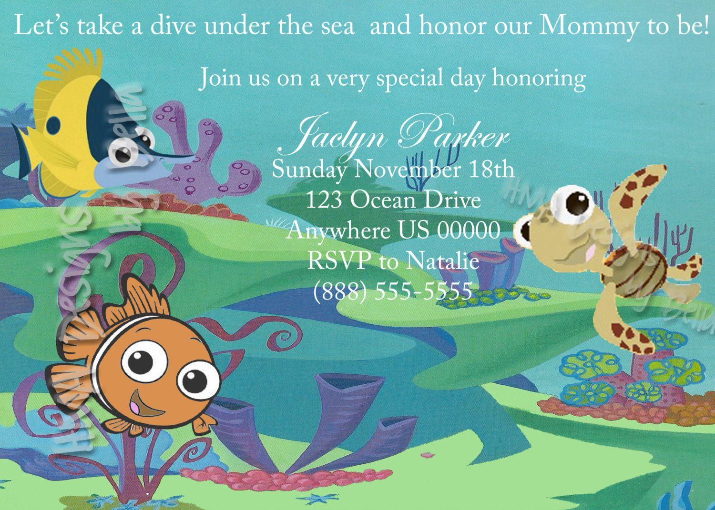 Finding Nemo Invite By HMADesignsbyBella On Etsy, $10.00
