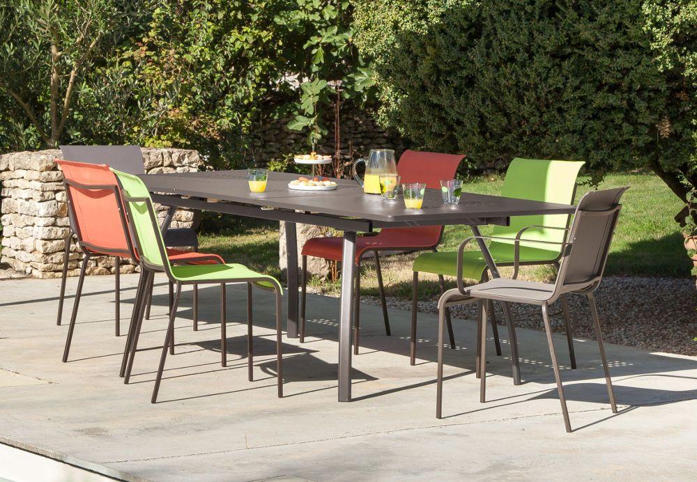 Salon 6 Places Granada Color en Aluminium et textilène sur ...