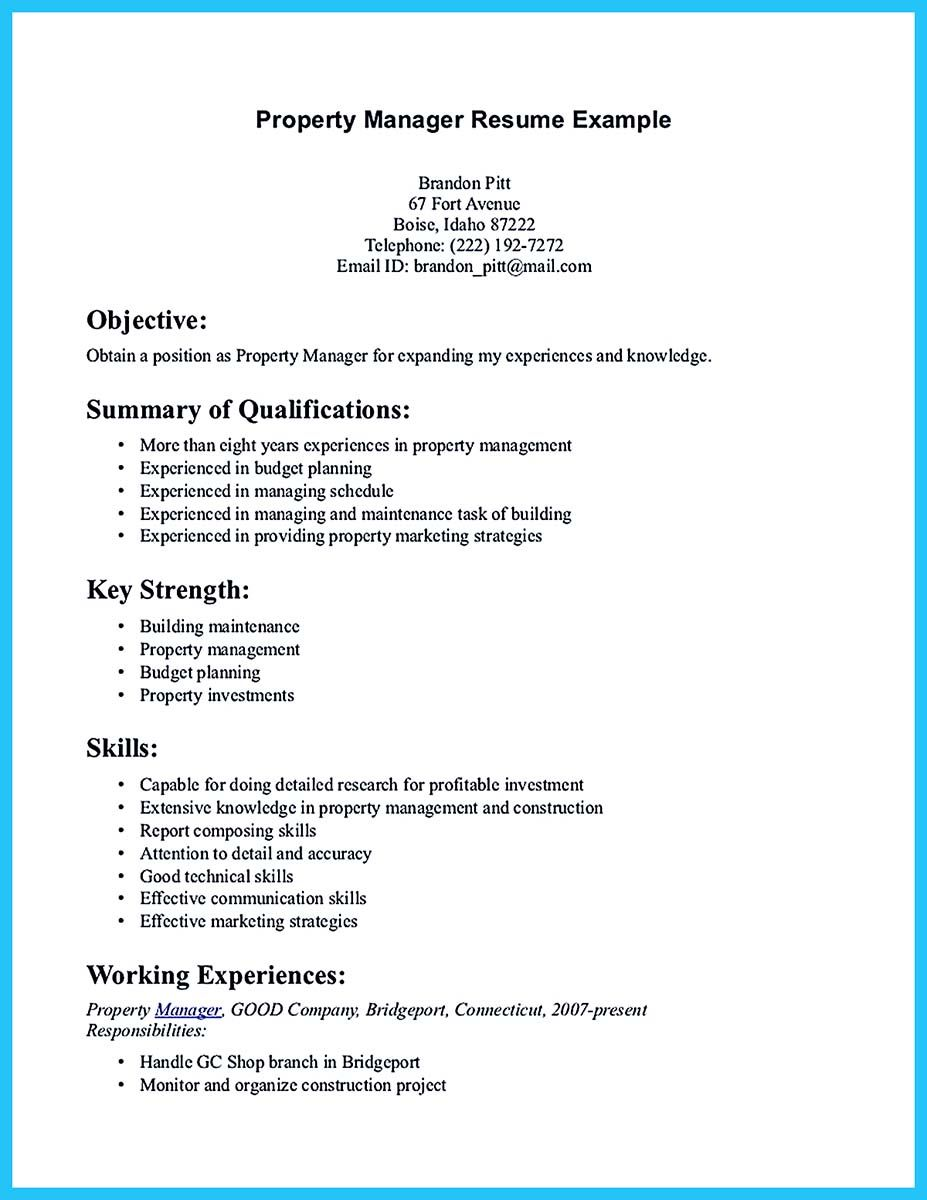 Outstanding Professional Apartment Manager Resume You Wish To Make Resume Summary Examples Resume Skills Job Resume Examples