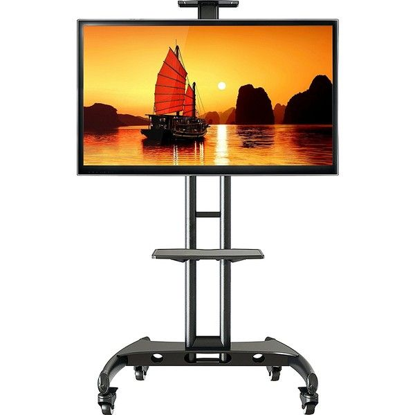 North Bayou Universal Mobile TV Cart TV Stand with Wheels for 55 ...