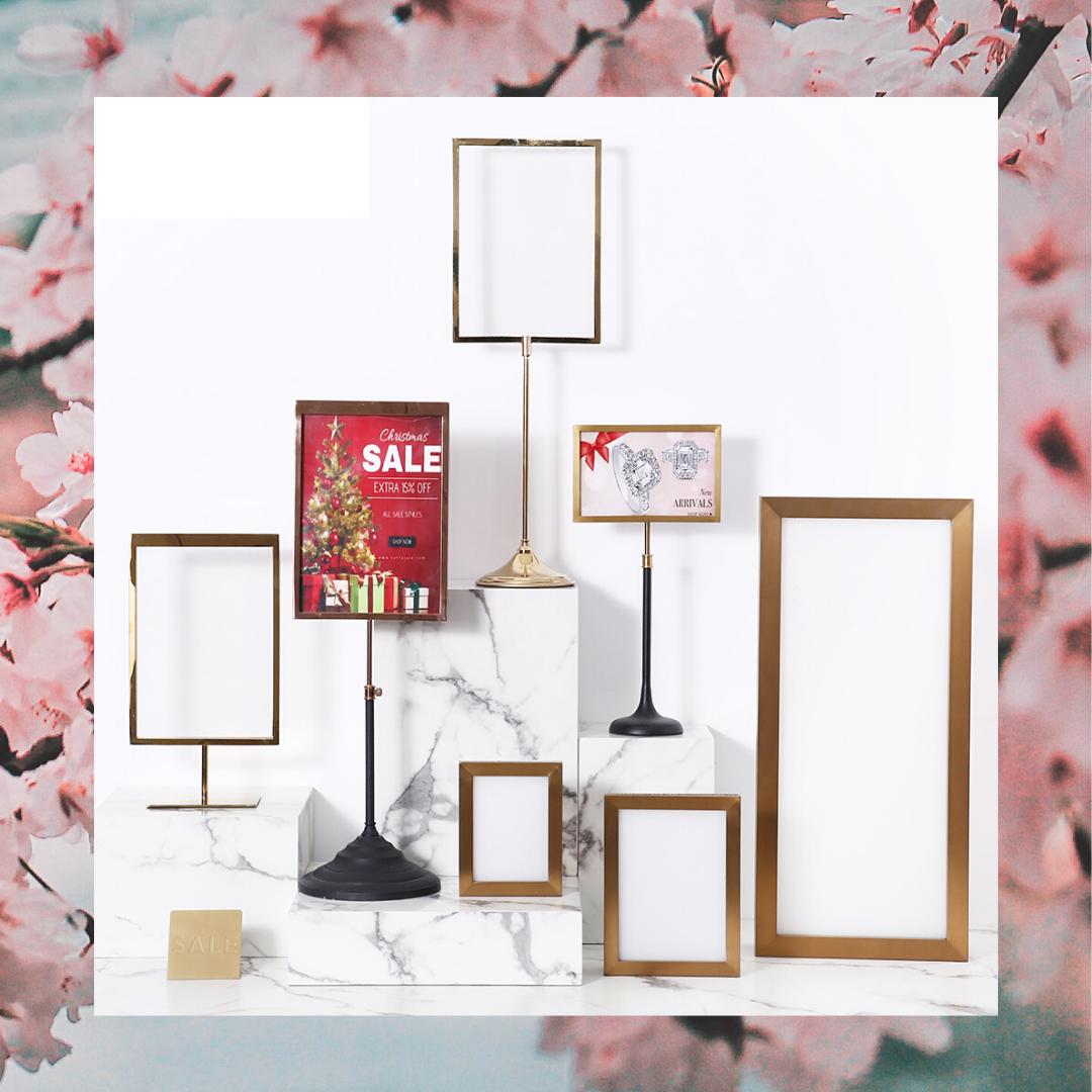 Ping Mall Poster Display Rack