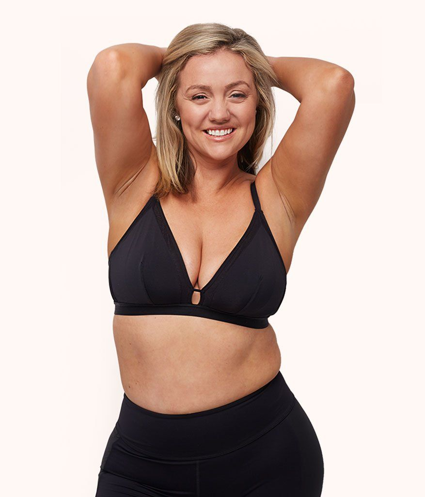 97c5967f04 Our jet black busty bralette is a supportive bralette for DD-DDD cup  ladies. With a soft liner and inner supportive sling for extra lift and  magic and in ...
