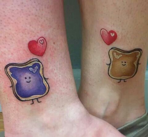 Pbj Matching Tattoos But Without The Heart Or Whatevers In The