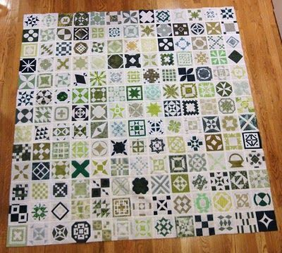 all in green - her comments per block are worth reading! | Quilts ... : reading quilt - Adamdwight.com